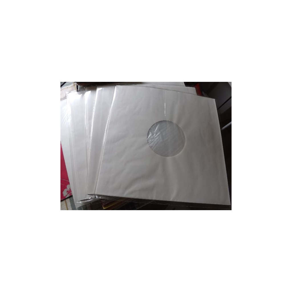 LP-fodral i papp Vit, 10-pack