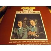 "JIM AND JESSE ""PROMO"" Saluting The Louvin Brothers JP LP"