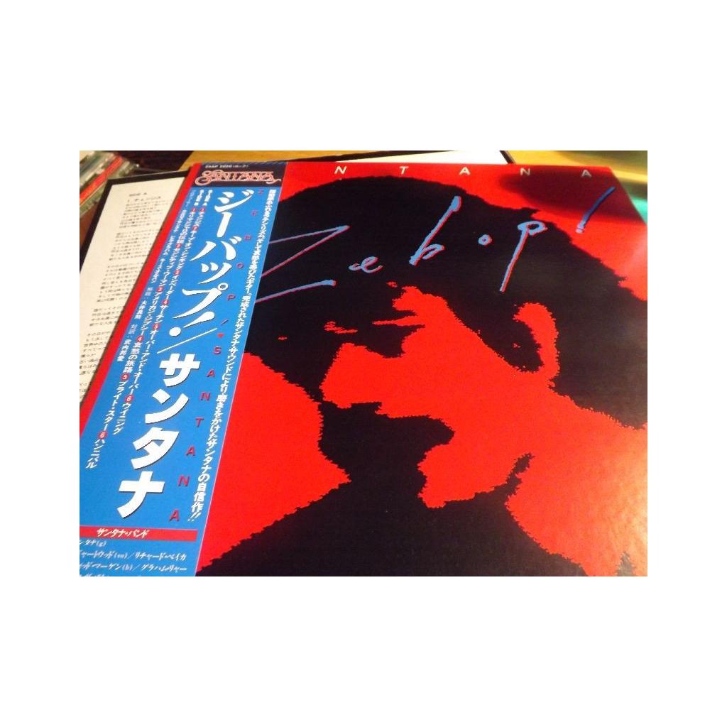 SANTANA Zebop! 1981 Japan Press Journey OBI LP d0238